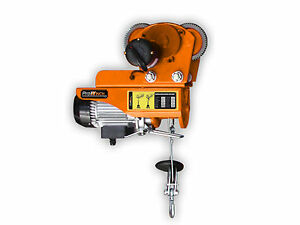 220 Lbs 440 Lbs Electric Rope Hoist W Power Trolley Upper Limiter 110 120v