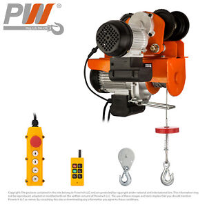 Prowinch 550 Lbs 1100 Electric Rope Hoist W Trolley 110v Wireless Control