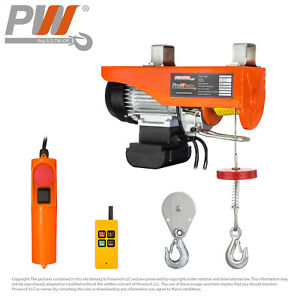 Electric Rope Hoist With Wireless Control 200 Lbs 440 Lbs 110 120v