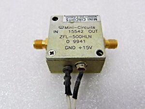 Mini circuits Zfl 500 hln Rf Amplifier Frequency