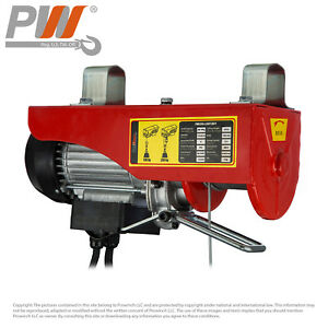 Prowinch 440 Lbs Electric Overhead Rope Hoist 110 120v 60hz W Emergency Stop