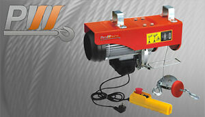 Electric Rope Hoist 880 Lbs W Emergency Stop 110 120v 60hz 3 Year Warranty