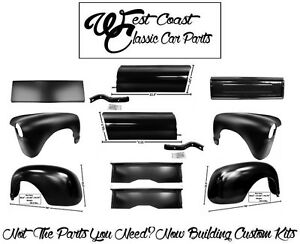 1947 1953 Chevy Truck Ft Fenders Rr Fenders Aprons Bedsides Front Tailgate Kit