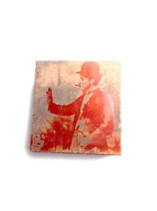 Vintage Letter Press Printing Block Copper Charlie Chaplin Unique Antique