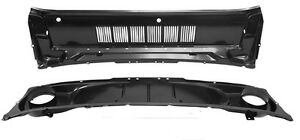 New 1965 1966 Mustang Cowl Air Vent Panel Grill At Hood Upper And Lower Kit