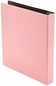 12 Pc 3 Ring Binder Storage Folder Documents Files Recycled Office School Pink