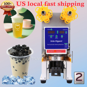 Electric Full Automatic Bubble Tea Cup Sealer Sealing Machine 750 Cups hr