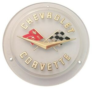 1961 1962 Corvette Rear Emblem Gold Lettering Made In The Usa