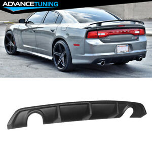 Fits 12 14 Dodge Charger Srt Oe Style Pp Rear Lip Bumper Valance Diffuser