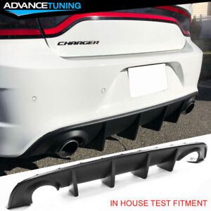 For 15 16 17 Dodge Charger Srt Oe Style Rear Lip Bumper Valance Diffuser Pp