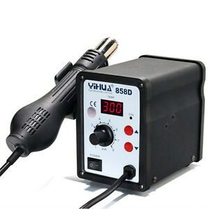 Yihua 858d Soldering Iron Rework Stations Hot Air Gun Desoldering Welder 220v