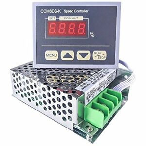 12 80v Pwm 30a Dc Motor Speed Controller Governor With Digital Display Panel Hho