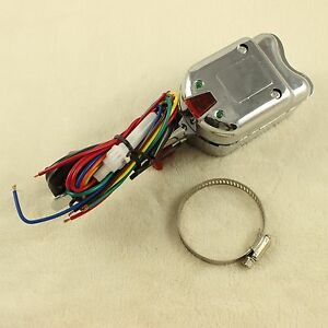 Universal Street Hot Rod Chrome Turn Signal Switch Fits For Ford Gm Buick 12v
