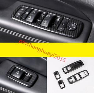 Carbon Fiber Window Switch Panel Cover Tirm For Jeep Grand Cherokee 2014 2017