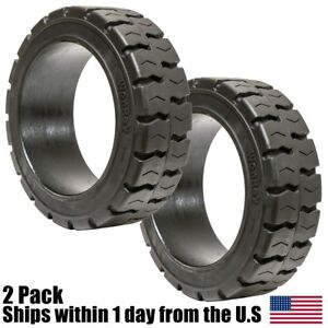 2pk 14x4 1 2x8 Tire Wide Track Solid Forklift 14x4 5x8 Traction Tire 144128