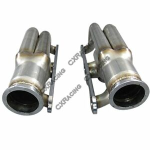 Twin Single Turbo Header For Small Block Chevy Sbc Gm 265 283 302 305 307 Twin