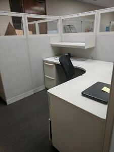 Haworth Unigroup 6 X 5 5 Cubicle W glass local Pickup Only