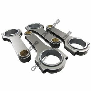 Cxracing Honda Acura Integra Gsr B18c H Beam Connecting Rods 5 433 Rod Length