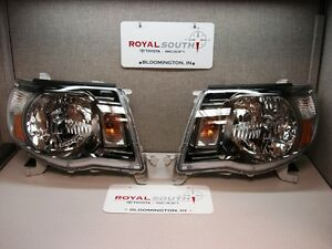 Toyota Tacoma Trd Sport Left Right Updated Front Headlight Set Genuine Oe