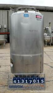 Used Dci Reactor 414 Gallon 316l Stainless Steel Vertical 42 Diameter X 65