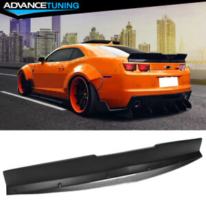For 10 13 Chevrolet Camaro Ikon Style Duckbill Type Trunk Spoiler Wing Black Pp