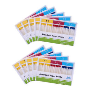 Us 50x Dental Absorbent Paper Points For Dentist Root Endodontics F1 F2 F3 Mixed