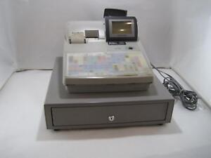 Sharp Up 700 Pos Point Of Sale Terminal Cash Register And Drawer For Parts