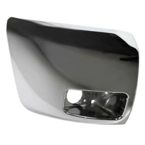 Capa 07 13 Silverado 1500 Front Bumper Extension End W Fog Light Hole Right Side
