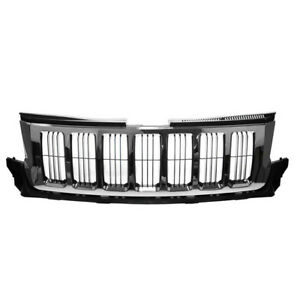 Capa 11 13 Gr Cherokee Front Grill Grille Chrome W Black Insert 55079377ae