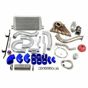 Single Turbo Intercooler Downpipe Kit For 2jzgte 08 16 Genesis Coupe Swap
