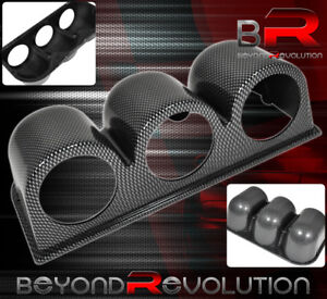Racing Monitor Pod 3 Holder Triple Gauge Carbon Fiber Vip For 240sx Gtr Skyline