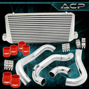 Fits 240sx 89 94 Ca18det Full Front Mount Tube Fin Intercooler Piping Pipe