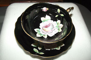 Vintage Old Prince China Hand Painted Flowers Tea Cup And Saucer Occupied Japan