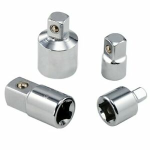 4pc 3 8 1 4 1 2 Ratchet Wrench Socket Drive Adapter Reducer Air Impact Set