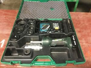Greenlee Battery Cordless Gator Knockout Set New In Box