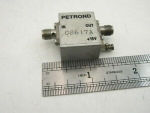 Petrond Cs617a Microwave Power Amplifier 225 1350 Mhz 0dbm 20db Tested