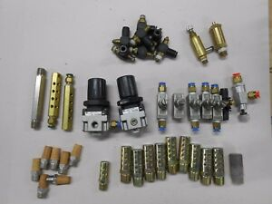 Smc Regulators Legris Flow Controls Huge Lot Of Pneumatic Fittings