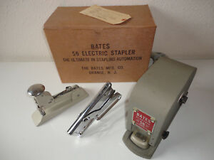 Vintage Bates 56 Electric Stapler Arrow P 22 And Swingline 13 Heavy Duty Lot