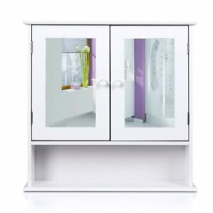 Homfa Bathroom Wall Cabinet Multipurpose Kitchen Medicine Storage Organizer With