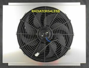 New All Aluminum Radiator Fan Shroud With 16 Fan 1979 1993 Ford Mustang Cougar