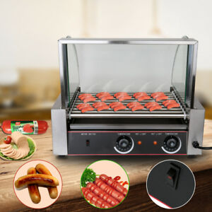 Commercial 24 Hot dog 9 Roller Grilling Machine Stainless steel Cooker Household