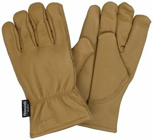 Carhartt Men s Insulated Full Grain Leather Driver Work Glove Brown X large