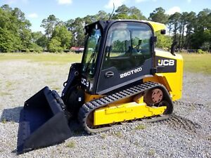 2014 Jcb 260t T4 Eco Skid Steer Compact Track Loader 74hp Only 255 Hrs
