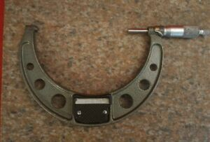 Mitutoyo 5 6 Outside Od Micrometer 0001 Calipers Machinist Tool