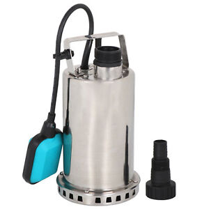 Submersible Pump 3000gph 1hp 750w Water Sump Clean Dirty Pond Flood Drain Steel
