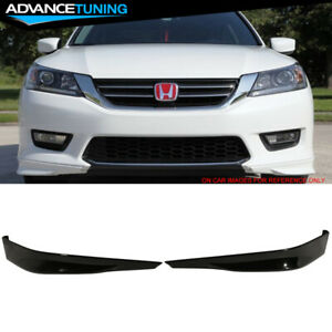 Fits 13 15 Accord Sedan Hfp Front Bumper Lip Painted Nh731p Crystal Black Pearl