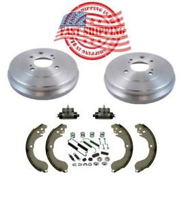 Rear Drums Brake Shoes Wheel Cylinders Hardware For Nissan Sentra Versa Cube