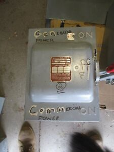 Ge Tc35322 60 Amp 240 Volt 3 Pole Double Throw Switch Ats18
