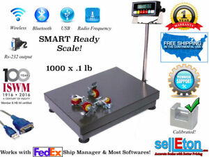 1000lb 0 1lb Bench Shipping Scale Floor Scale With Lockable Casters Fed Ex