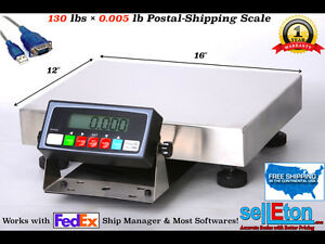 Fed Ex Shipping Scale Postal Scale 130 Lbs X 005 Lb With Usb Cable